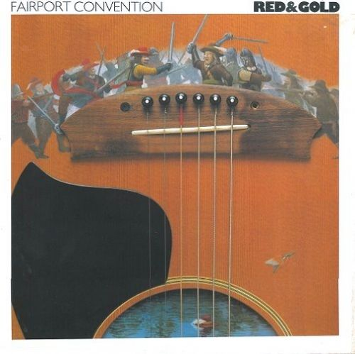 FAIRPORT CONVENTION Red And Gold Vinyl Record LP New Routes 1989